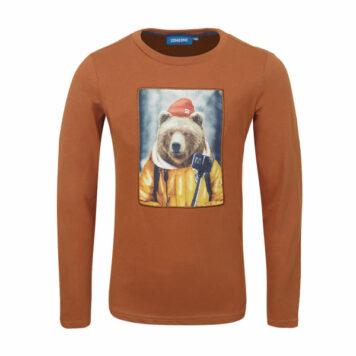 Someone Longsleeve Bear Burnt Orange
