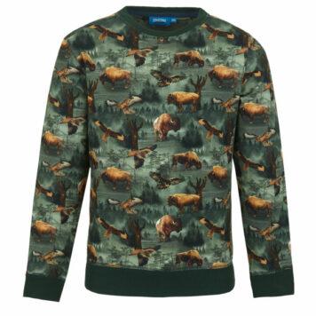 Someone Sweater Loup Dark Green