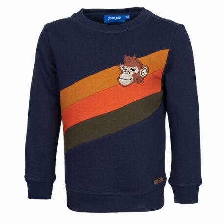 Someone Sweater Survive Monkey Stripe Navy