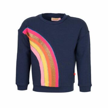 Someone Sweater Zanna Rainbow Navy