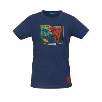 Someone T-Shirt Dinos Dark Blue Melange