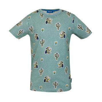 Someone T-Shirt Take Light Green Melange