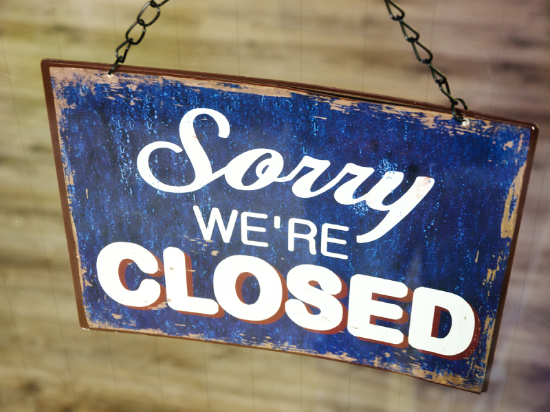 We will be closed sign for pinterest