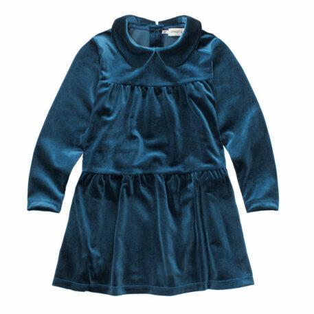 Sproet & Sprout Dress Velvet Blue
