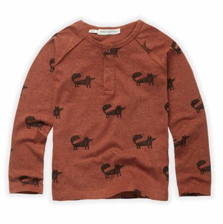 Sproet & Sprout Grandad Shirt Fox Print