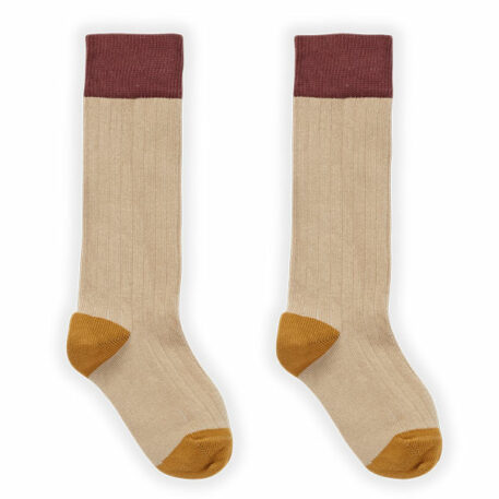 Sproet & Sprout Sock Colorblock Nougat