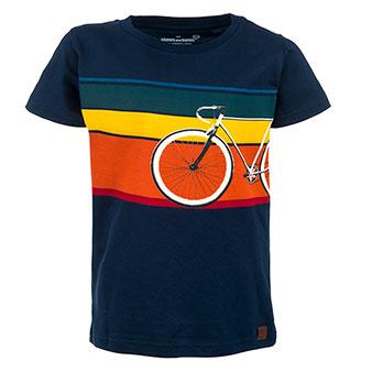 Stones&Bones T-shirt Russell Bike Navy