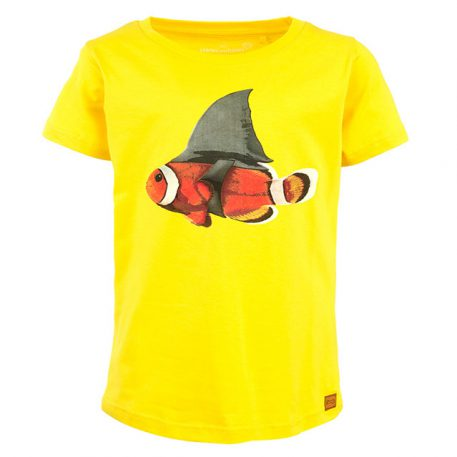 Stones&Bones T-shirt Russell Nemo Shark Yellow