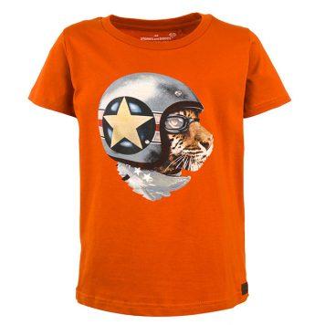 Stones&Bones T-shirt Russell Race Tiger Rust
