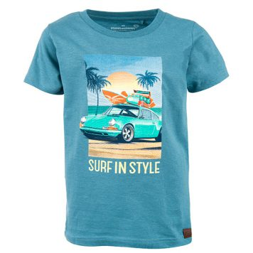 Stones&Bones T-shirt Russell Surf Slate