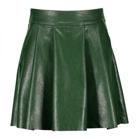 Street Called Madison Luna Imi Leater Skirt Green
