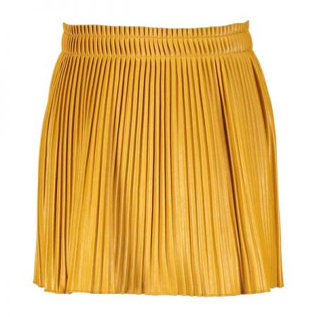 Street Called Madison Luna Plisse Imi Leater Skirt Yellow