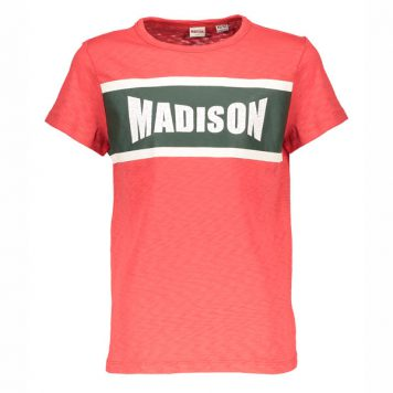 Street Called Madison T-shirt Madison Red Logo