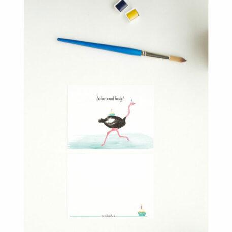Studio Bertha Postkaart Zei hier iemand Feestje?