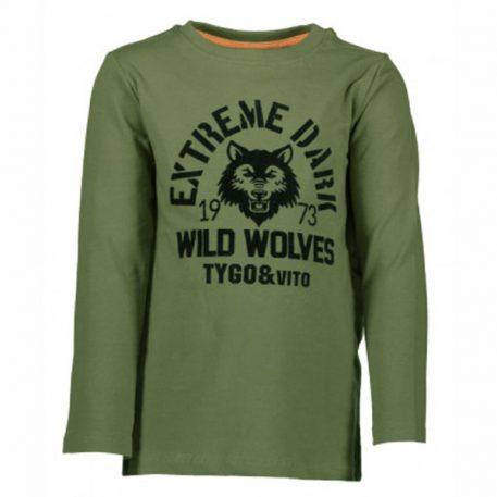 Tygo & Vito Longsleeve Wild Wolves Army