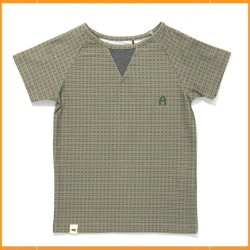 Albababy Gate T-shirt Green-Grey Striped
