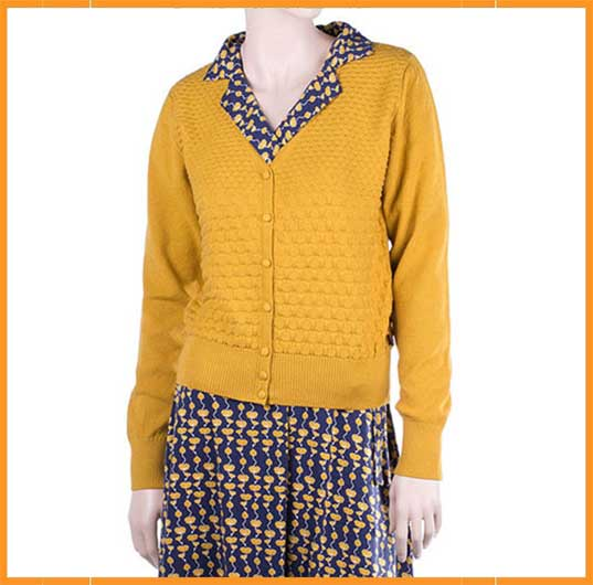 Gerdy Cardigan Dind Mustard Froy amp; qczvWcnt4
