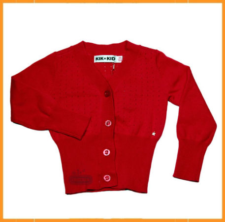 Kik Kid Cardigan Red