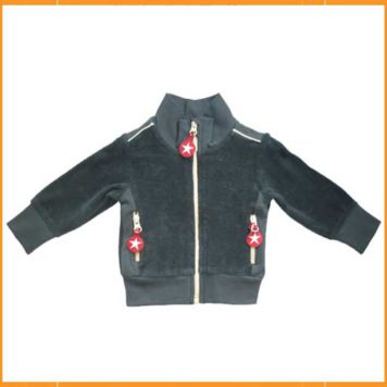 Kik Kid Jacket Terry Dark Grey