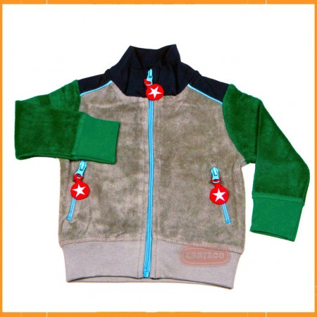 Kik Kid Jacket Terry Green-Grey