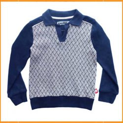 Kik Kid Sweater Jacquard Dark Blue
