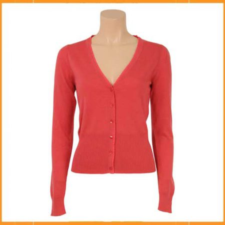 King Louie Cardi V Cocoon Pink Coral