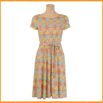 King Louie Sally Dress Tulips