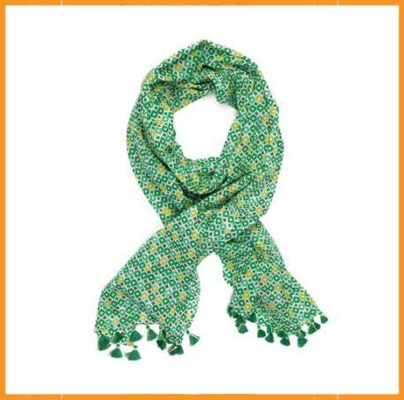 Lebig Icat Print Sjaal Amazon Green