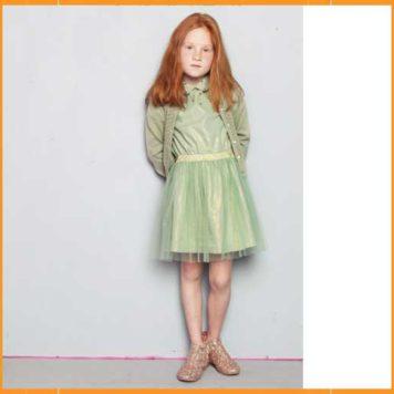 Lebig Sparkle Dawn Short Cardigan Grayded Jade