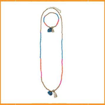 Lebig set van Ketting en Armband - Blue Hyacinth