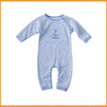 Little Label Sweat Babysuit Irregular Light Blue