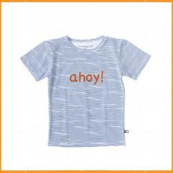 Little Label T-shirt Ocean Blue Stripes