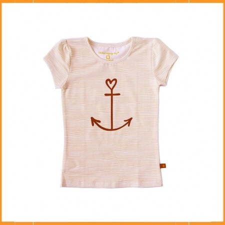 Little Label T-shirt Orange Stripes