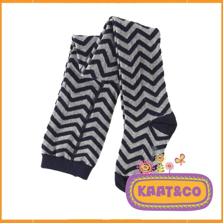 Little Label kousenbroek Dark Navy Zigzag