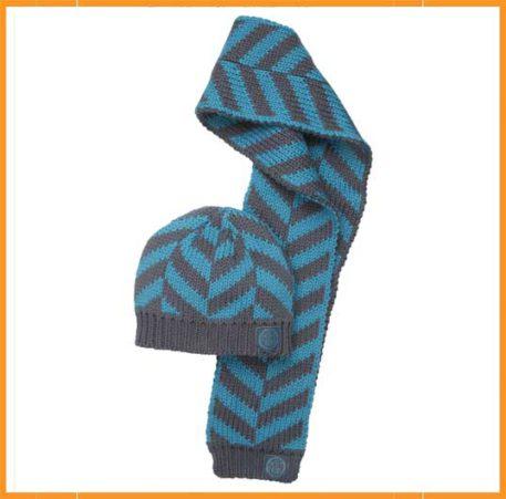 Moodstreet set muts en sjaal blauw