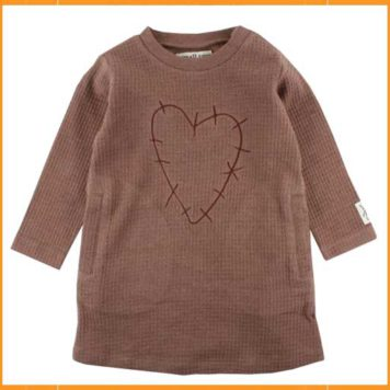 Small Rags Heart Dress Nutmeg
