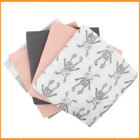 Small Rags set 5 tetradoeken Pink Sand
