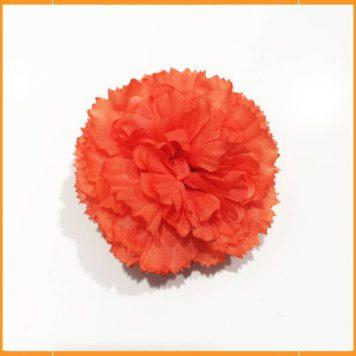 Strass bloem oranje-rood