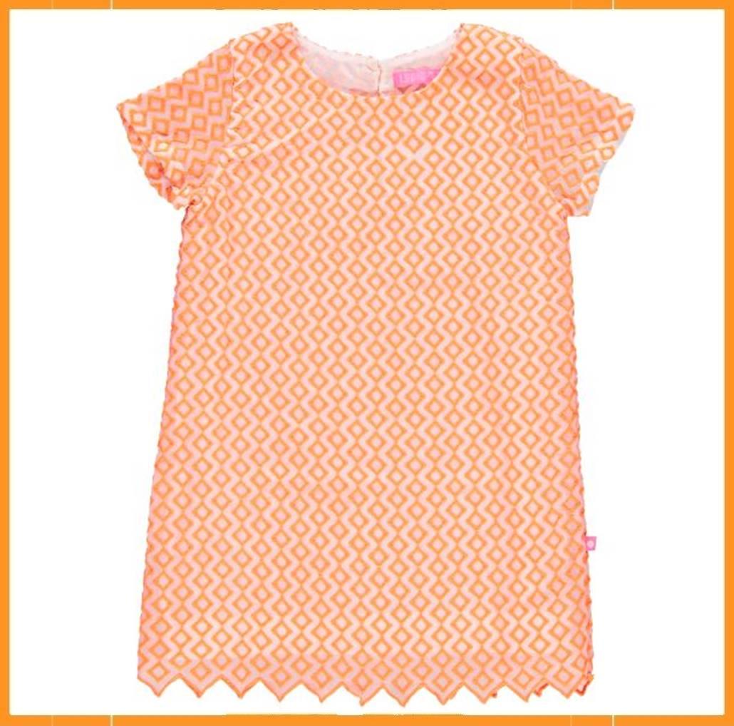 1d3585206a6bbd Lebig Embroidery Dress oranje - Kaat Co