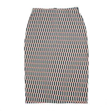 Lily Balou Thilly Pencil Skirt Jacquard Blocks Green