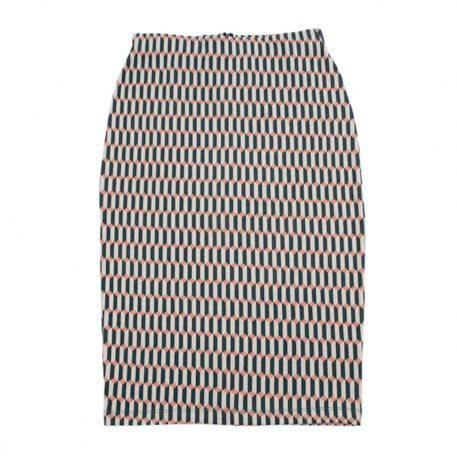 Lily Balou Thilly Pencil Skirt Jacquard Blocks Green