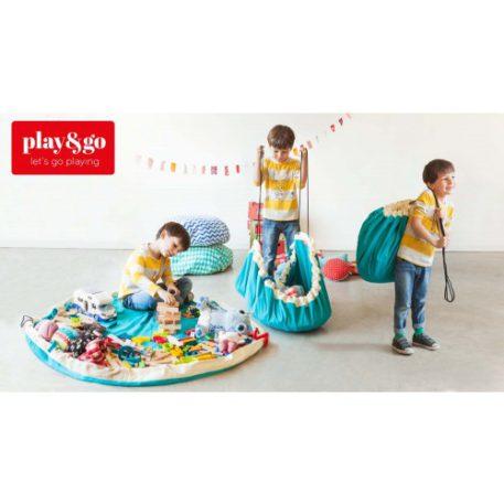 Play&Go speeltapijt-opbergzak ZigZag Blauw