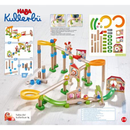 Haba Knikkerbaan Kullerbü Rollen naar de Stal